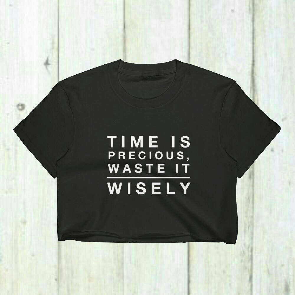 Funny crop toptime is precious waste it wisely lazy crop top funny crop toptime is precious waste it wisely lazy crop toplazy negle Choice Image