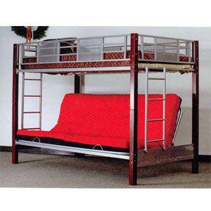 Vernon Twin Full Convertible Futon Bunk Bed 2785 A Quartos