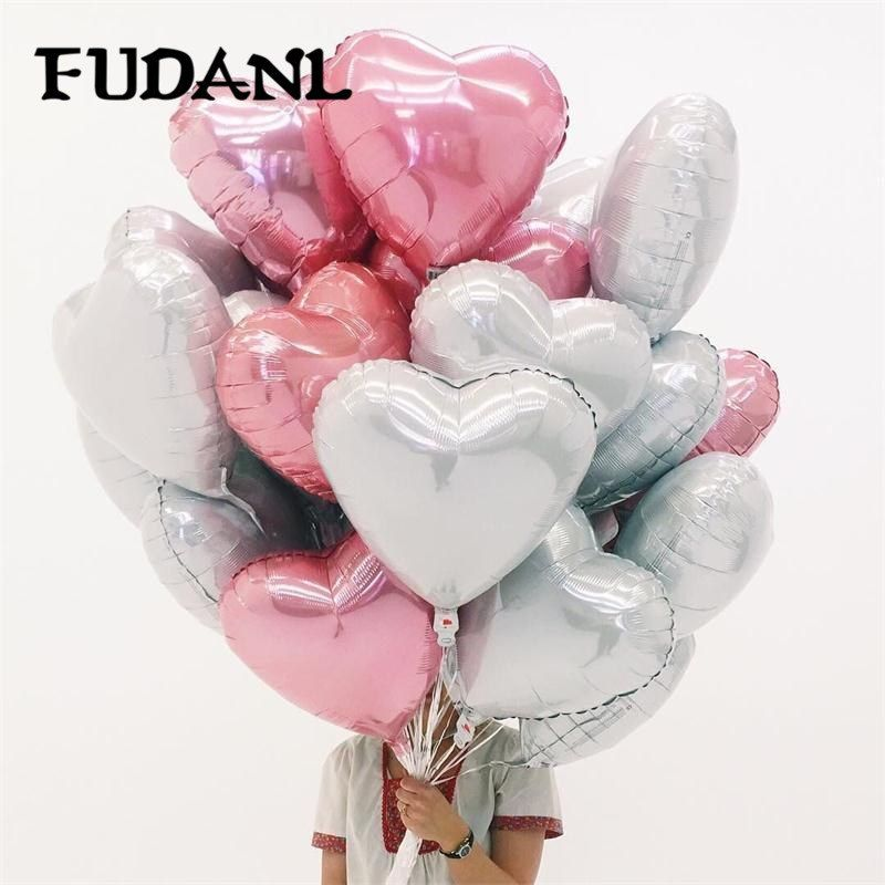 "5pcs 18/"" Love Heart Foil Helium Balloons Wedding Party Birthday Decoration"