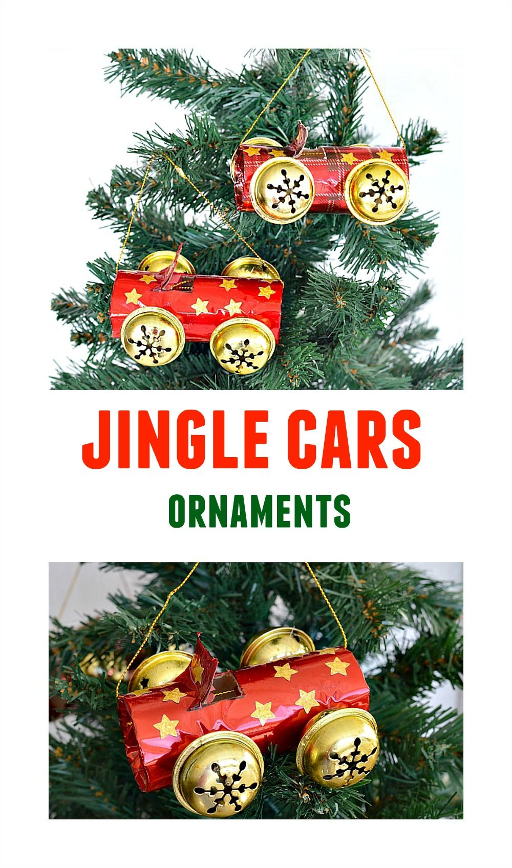recycled ornament crafts cute jingle cars homemade ornaments kids can make for christmas