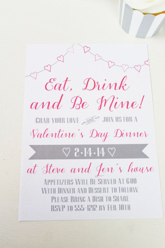Valentine\'s Day Party Invitations | Love, Love, Love Vday Crafts ...