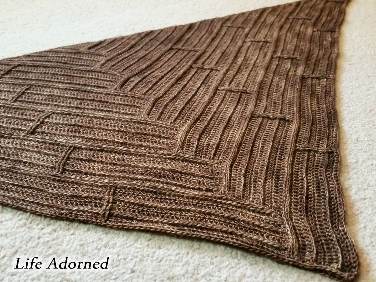 Crochet Men\'s Scarf Pattern – Parquet | Scarf patterns, Crochet mens ...