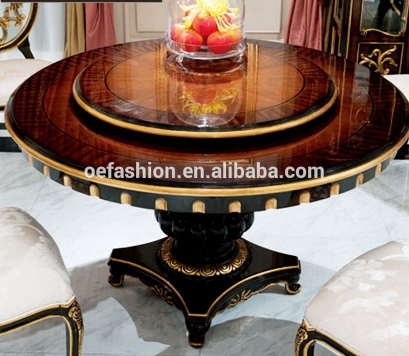 Oe Fashion Elegant Round Dining Table Sets With Rotating Centre Dinning Tables Set Wood View Round Dining Table With Rotating Centre Oe Fashion Product Detail Round Dining Table Sets Glass Round Dining Table