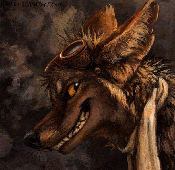 trickster coyote steampunk