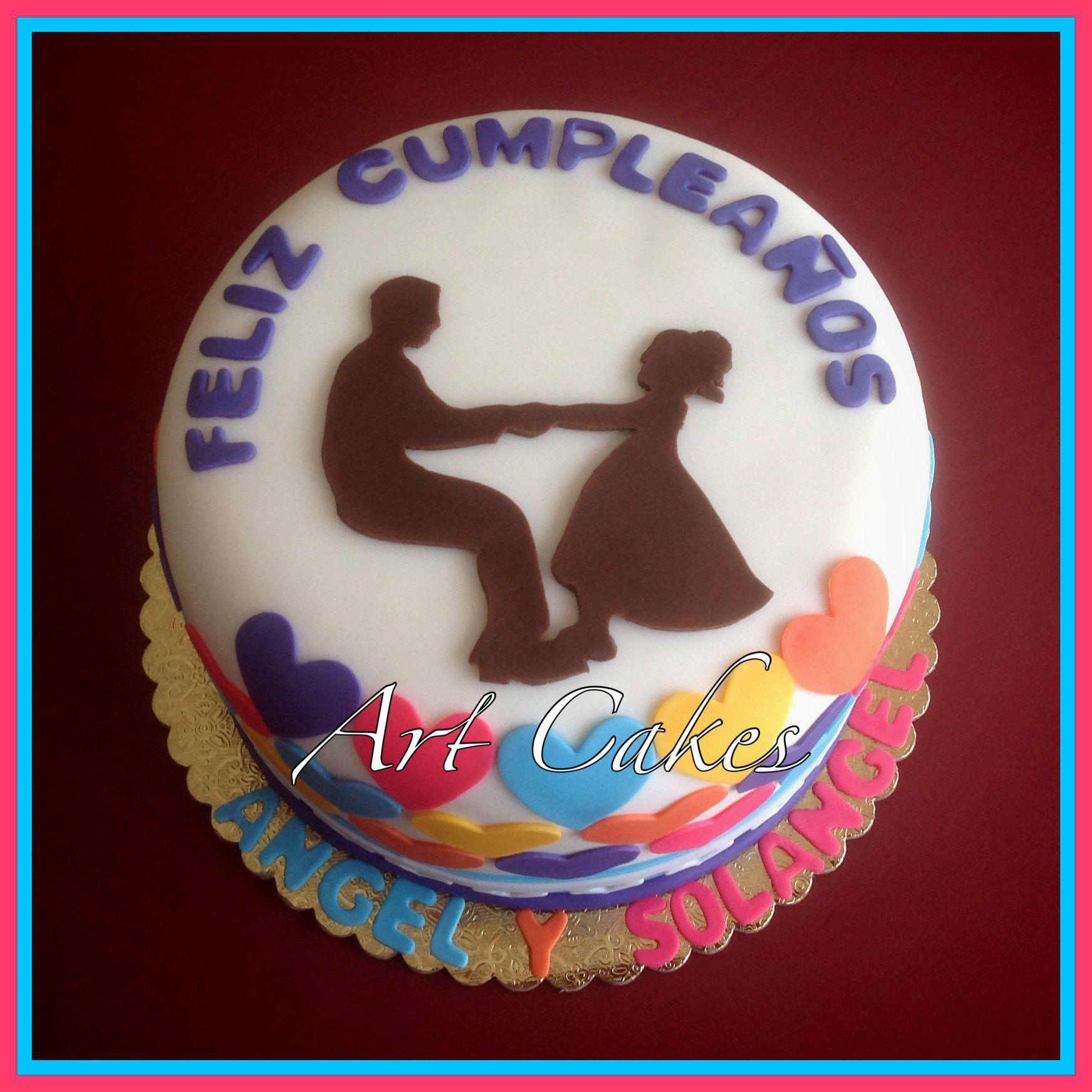 Father daughter birthday cake birthday cake with photo