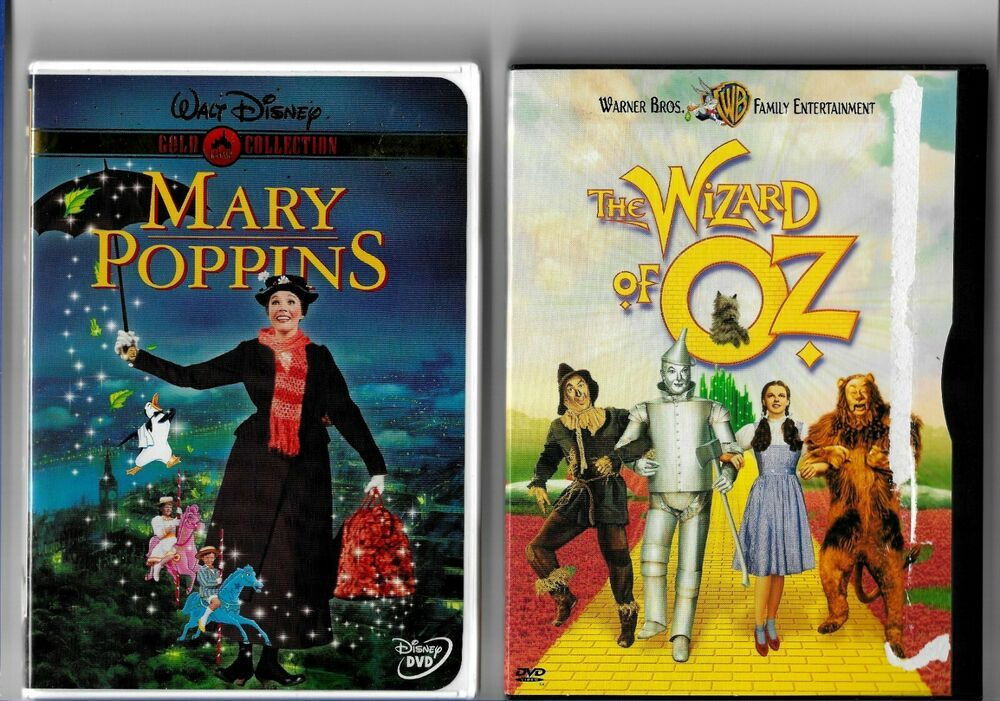 The Wizard Of Oz Dvd Mary Poppins 2 Family Classics Movies On 2 Dvds Lot Disneywarnerbros In 2020 Wizard Of Oz Dvd Family Entertainment Mary Poppins 2