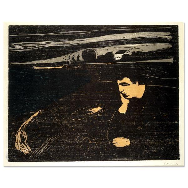 Munch, Melancholy, Woodcut