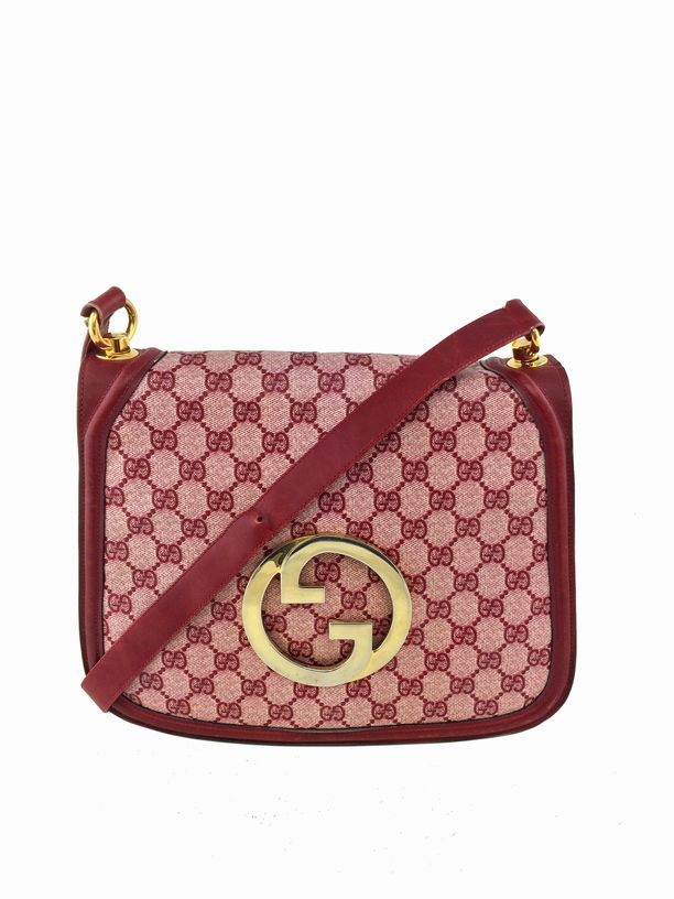Consigned Designs Gucci Handbags Red Monogram Blondie Bag