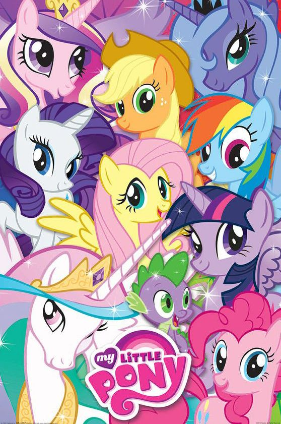My little pony poster poster print my little pony dessin anim dessin et anime - Pony dessin anime ...