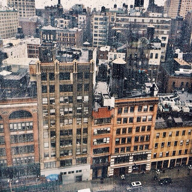 It's raining. NYC