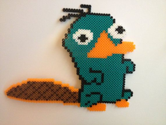 Perry the Platypus perler bead by PerlerPalace