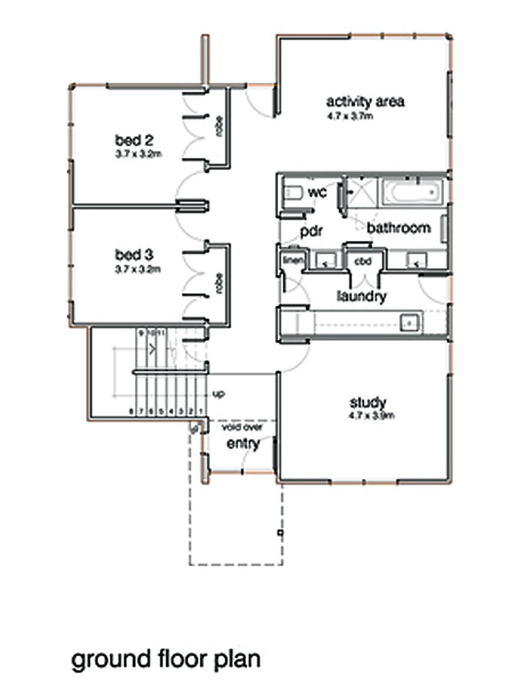 modern style house plan 3 beds 2 baths 2554 sq ft plan 496 20