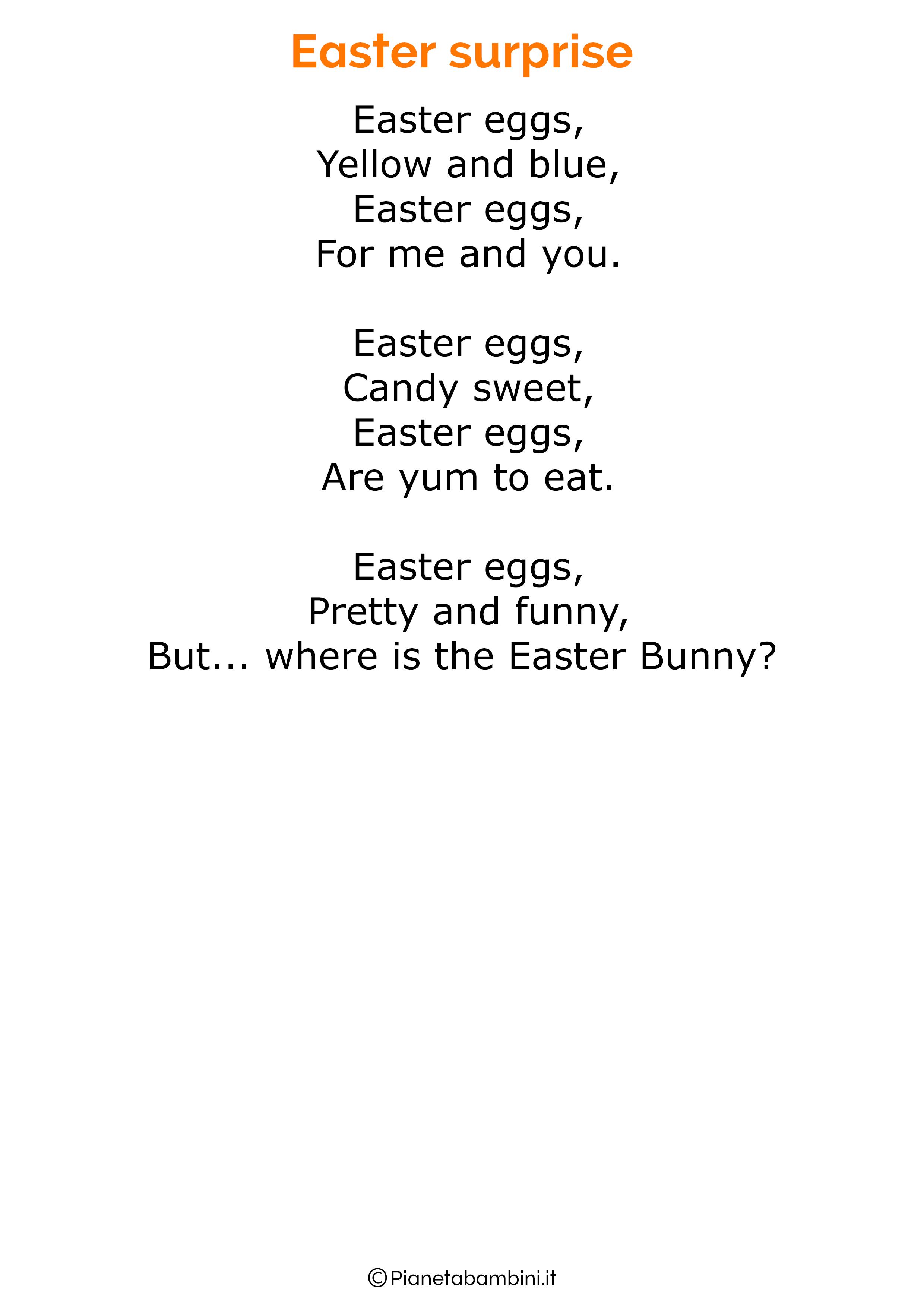 Imparare a recitare poesie è un ottimo esercizio di memoria! 30 Poesie Di Pasqua In Inglese Per Bambini Inglese Poesia Filastrocche