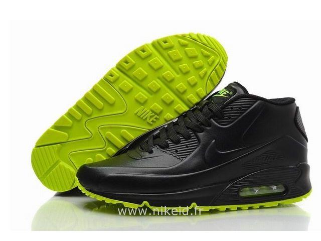 site réputé 7cced 11661 Nike Air Max 90 Noir Vert Chaussures Homme Air Max 90 Fluo ...