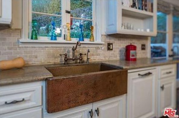Copper apron sink with textured finish. | Kitchen counters, sinks ...