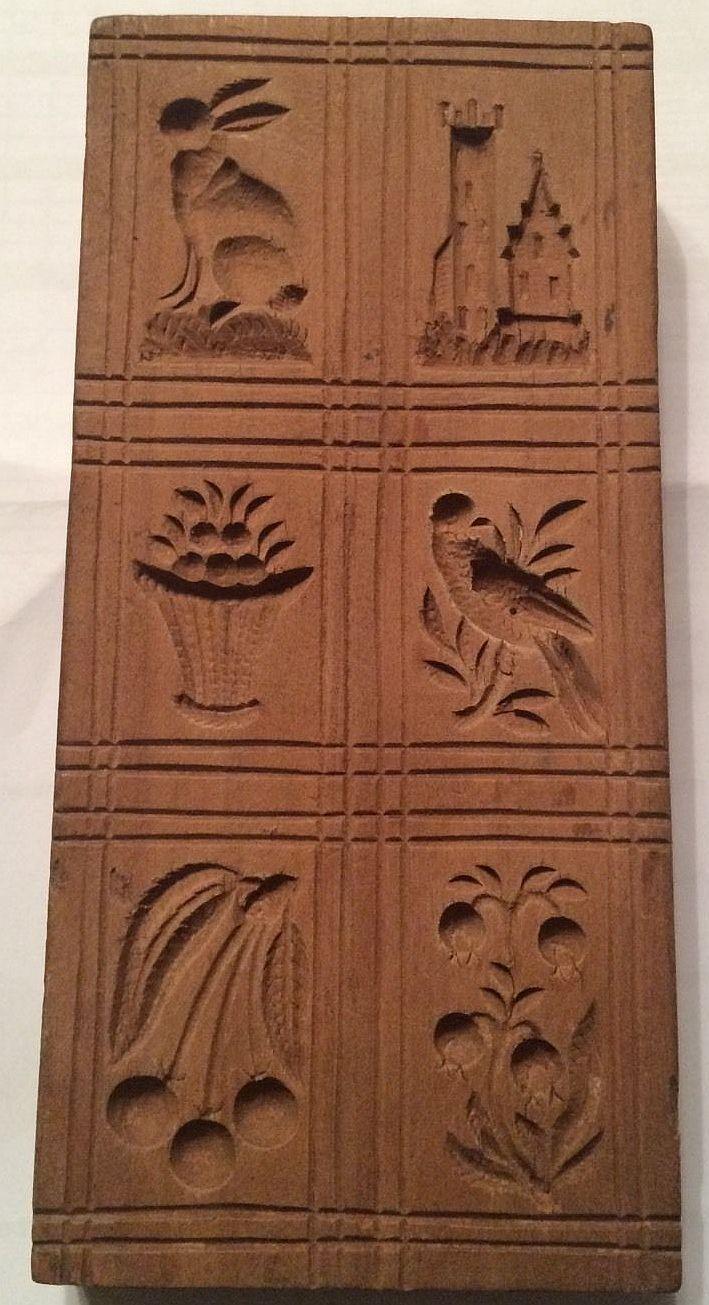 Springerle Cookie Mold Antique German Springerle Board Mixed