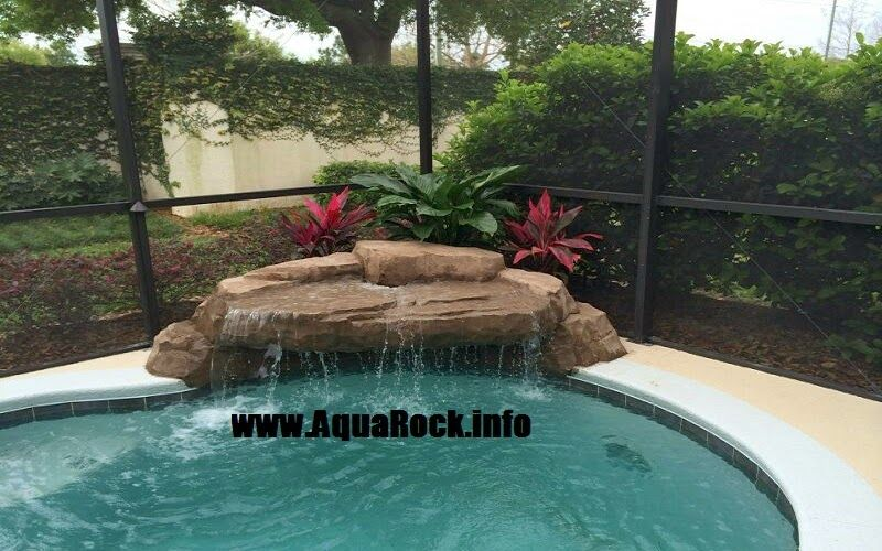 Aquarock Pool Waterfalls Orlando Tampa Pool Waterfall Swimming Pool Waterfall Small Swimming Pools