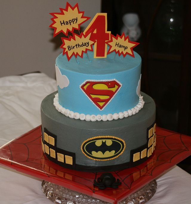 boy birthday lets party birthday cake superman