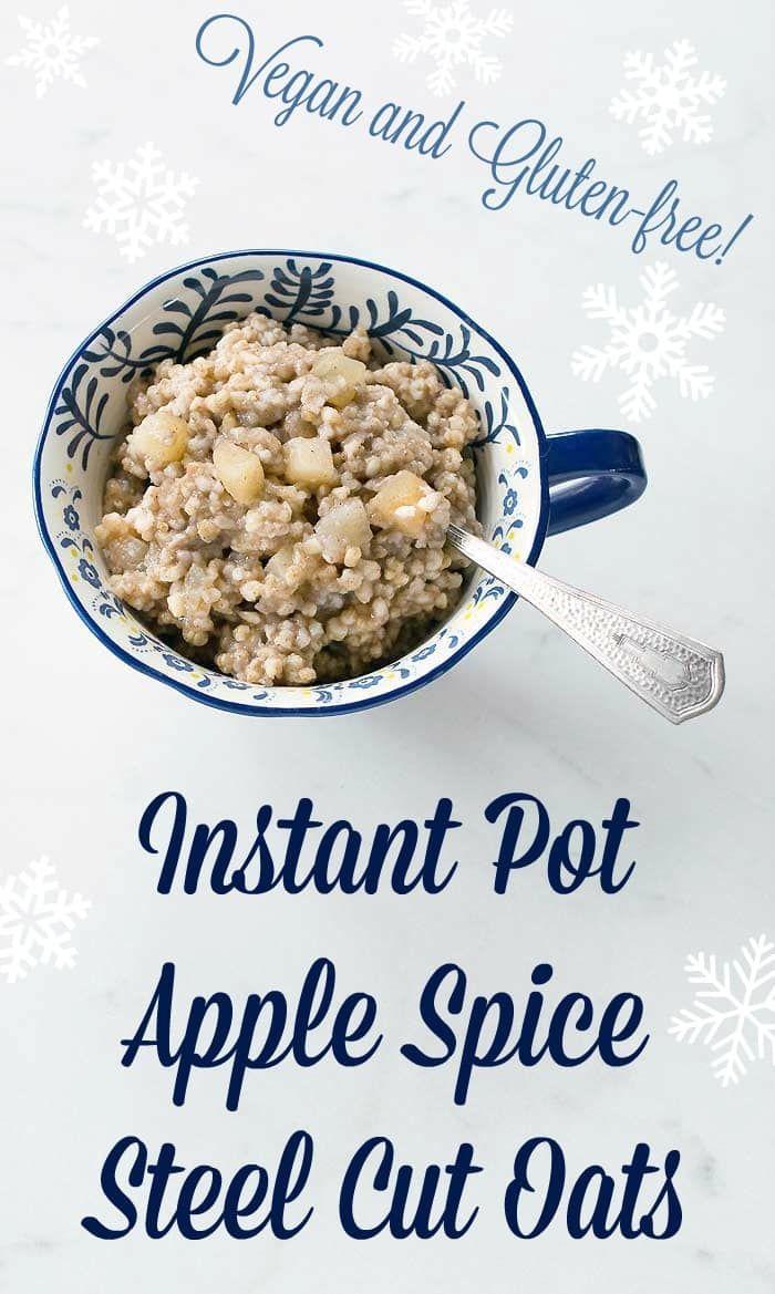 Instant Pot Apple Spice Steel Cut Oats
