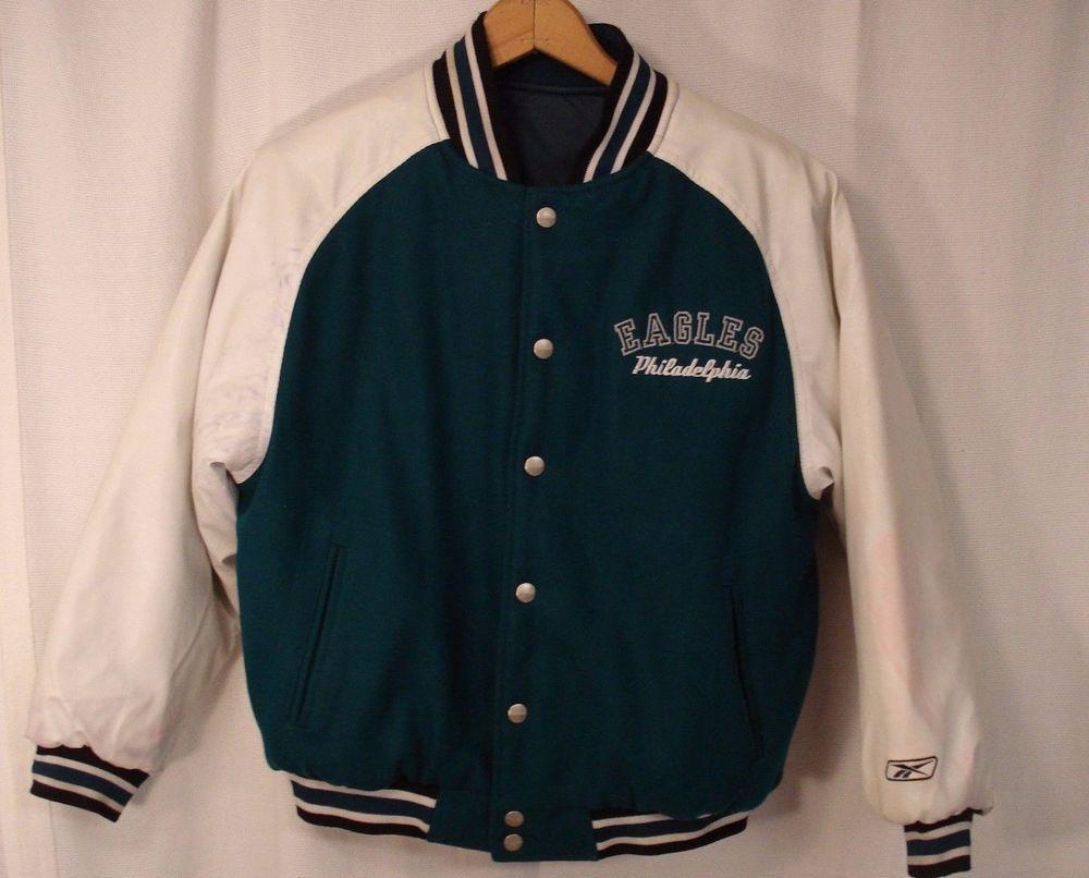 58cbc2716 Philadelphia Eagles Varsity Jacket - Reebok NFL - Boys Medium 10-12 ...