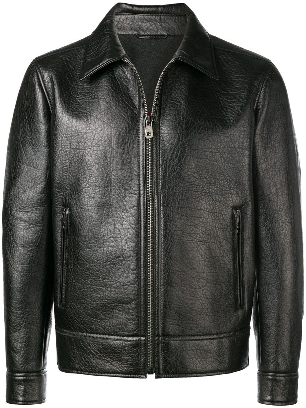 165db037a Salvatore Ferragamo zipped leather jacket - Black in 2019 | Products ...