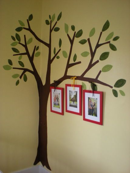awesome tree garden wall murals paintings ideas for nursery kids bedroom decorating ideas - Childrens Bedroom Wall Painting Ideas
