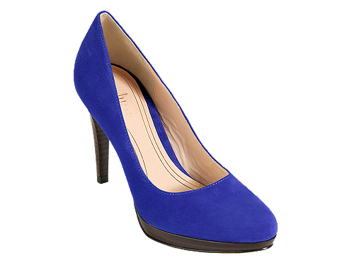 Cold Haan blue suede pumps. Yes please.
