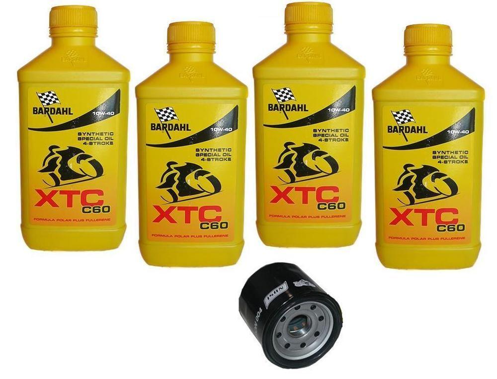 Kit Tagliando 4lt Bardahl XTC 10W40 Filtro Olio 204 HONDA 1000 VTR SP2 2002/2006