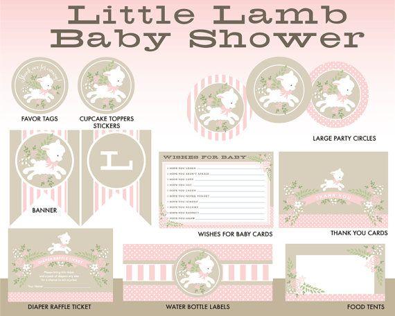 LITTLE LAMB Banner Instant Digital Download