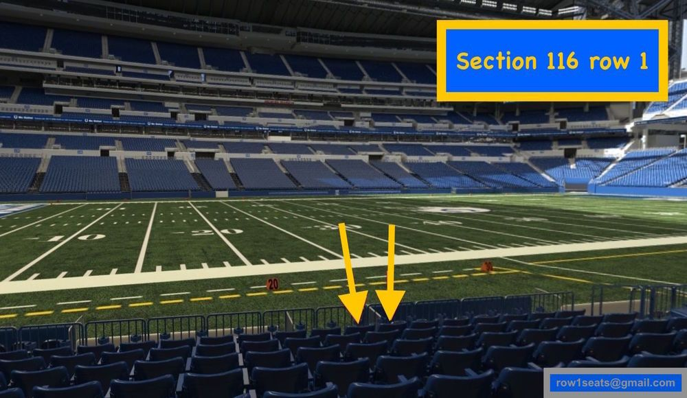 4 Front row Tennessee Titans at Indianapolis Colts tickets