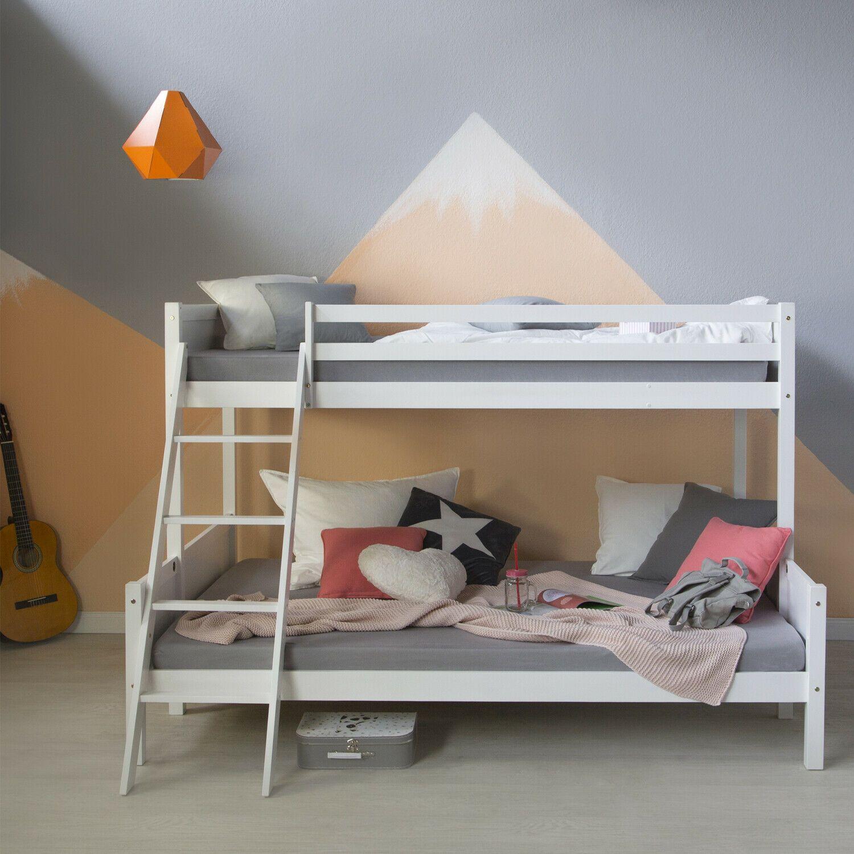 Hochbett 140 X 200 Kinderbett Jugendbett Etagenbett Doppelstockbett Spielbett Ebay In 2020 Doppelstockbett Kinderbett Jugendbett Bett Kinderzimmer