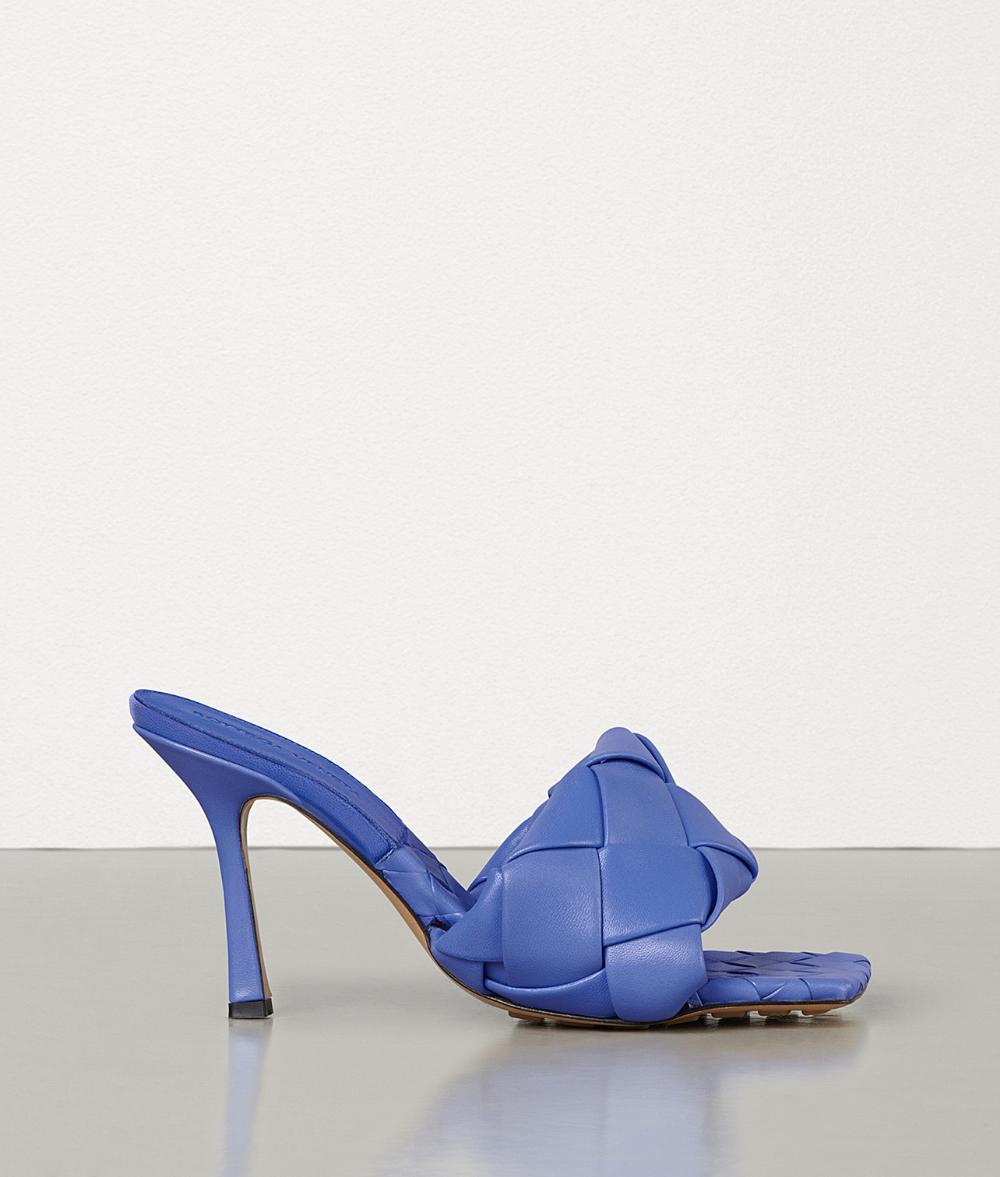 【Bottega Veneta葆蝶家 高跟凉鞋】Bottega Veneta/葆蝶家 女士时尚黑色编制细跟凉鞋拖鞋