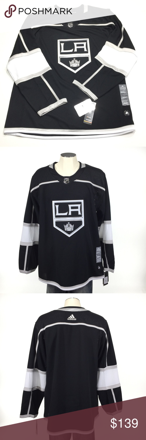 Los Angeles Kings Adidas Authentic Jersey Nwt With Images Adidas Shirt Adidas Clothes Design