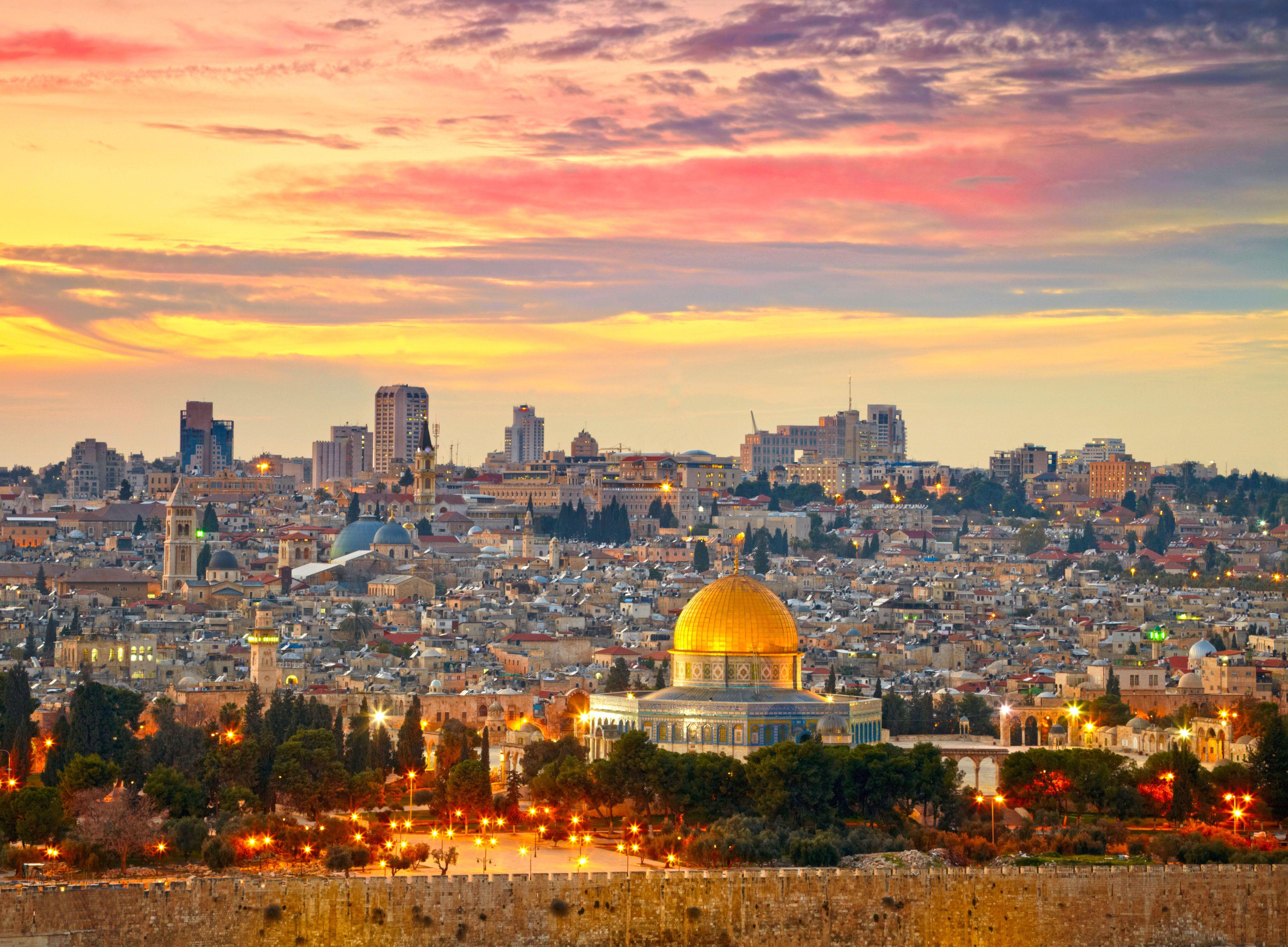 Image result for sunset over jerusalem