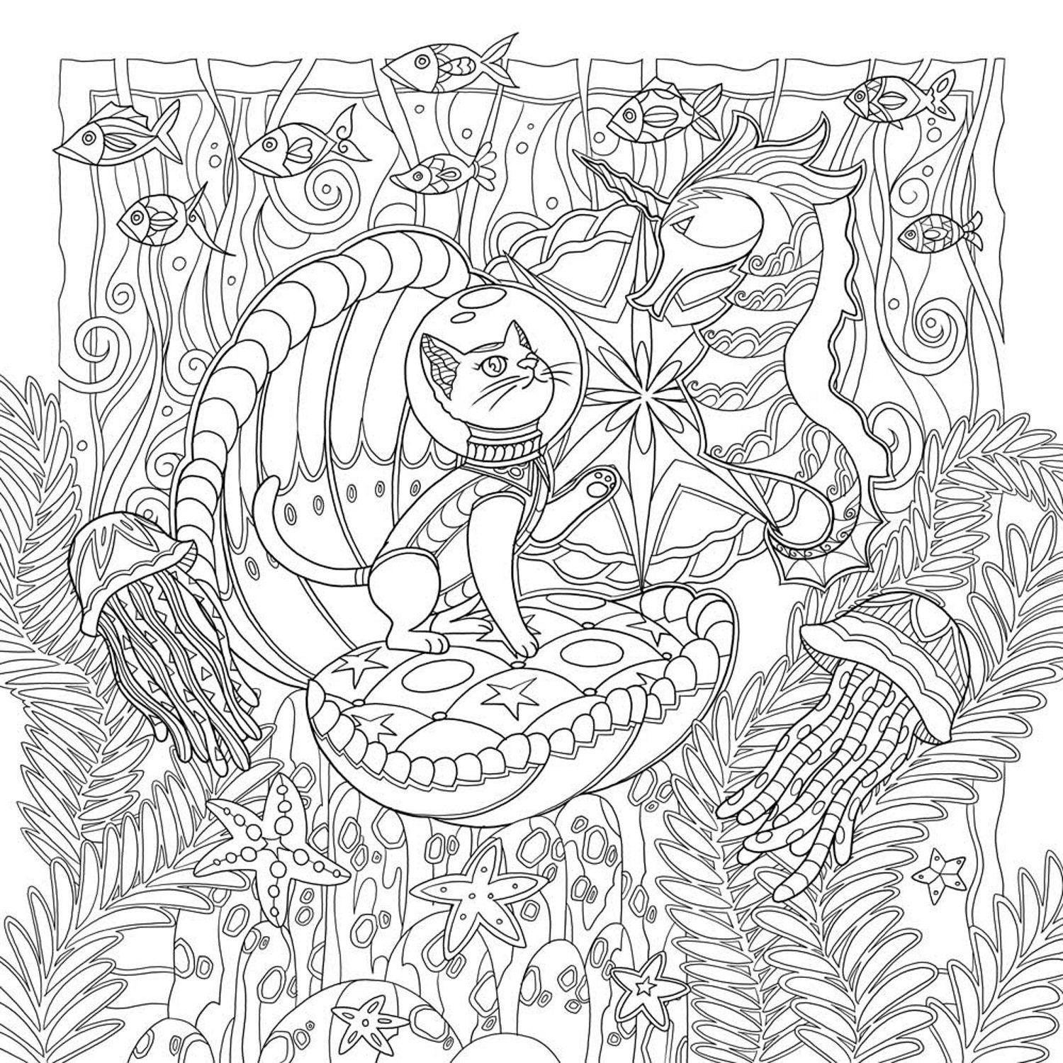 Mystical Cats In Secret Places A Cat Lover S Coloring Book Honoel 9781626923959 Books Amazon Ca Cat Coloring Book Coloring Books Animal Coloring Pages