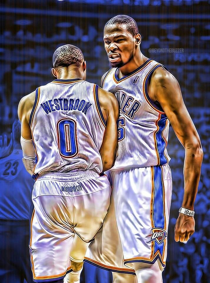 b567f6eb9 OKC Thunder Kevin Durant Russell Westbrook