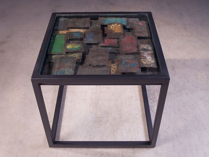 Phillips Collection - Cloud Galvanized SideTable