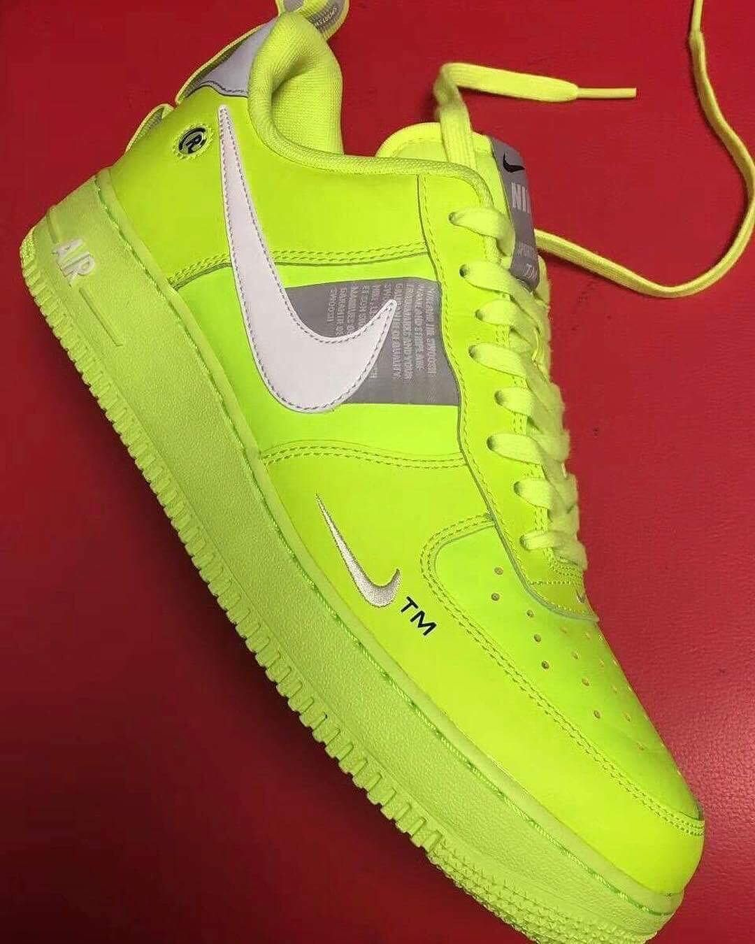 Take A Look At These Bright Fluorescent Yellow Air Force 1 Low Tennis Ball Nike Shoes Air Force Sneakers Air Force Shoes