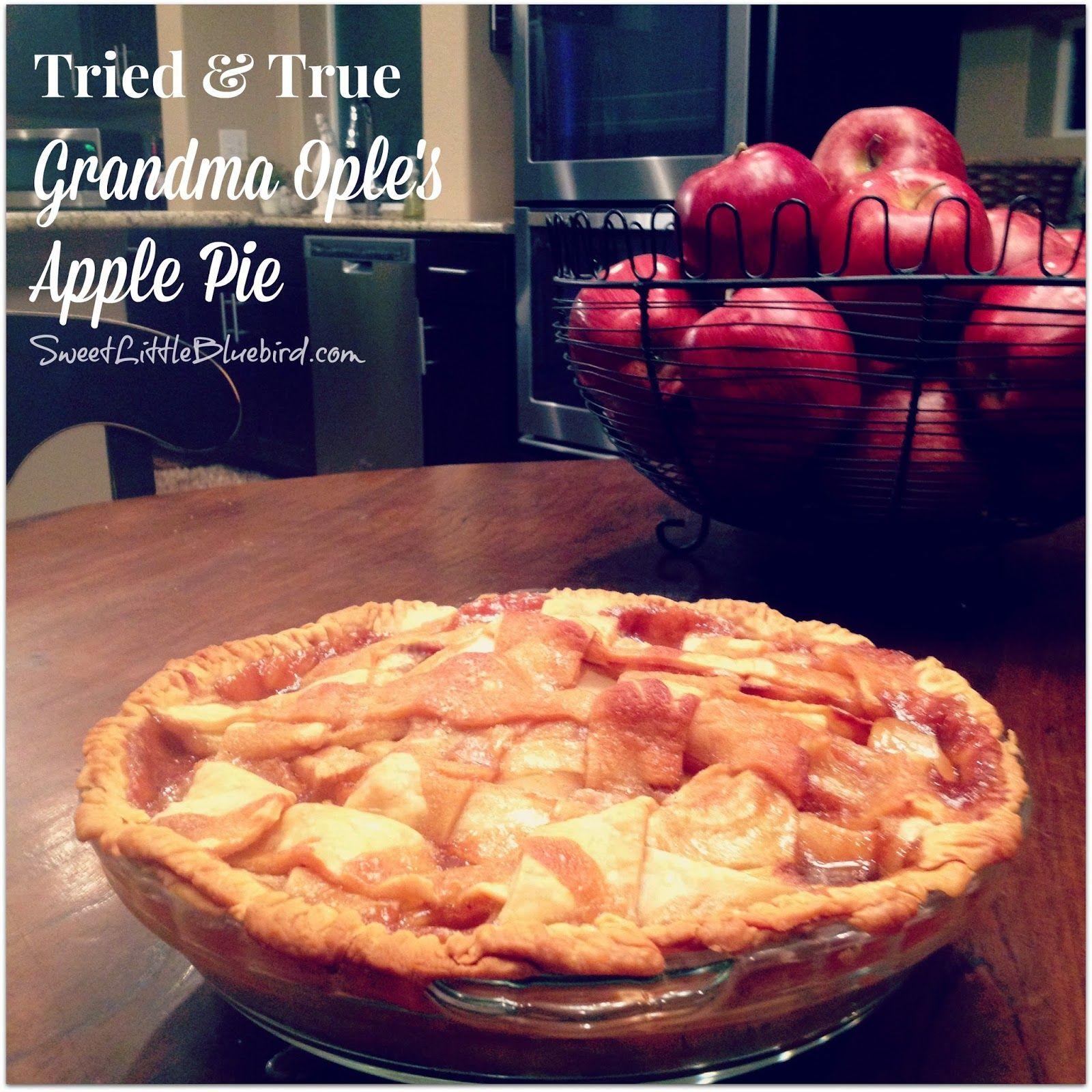 Grandma Ople's famous Apple Pie - Tried and True Recipe.  Simple to make,  so good.     SweetLittleBluebird.com