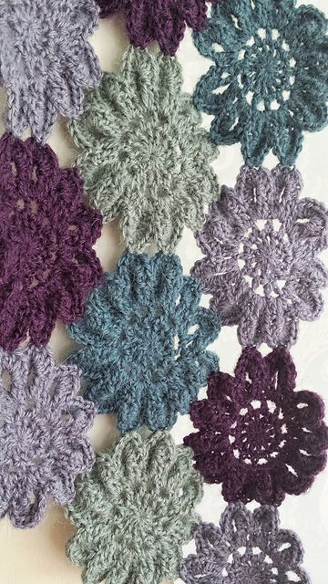 Ravelry: RebelAngel77\'s Japanese Flower Scarf | Knit and Crochet ...
