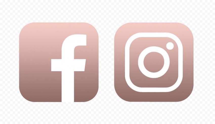 Hd Facebook Instagram Rose Gold White Logos Icons Png In 2021 Rose Gold Logo Logo Icons Internet Logo