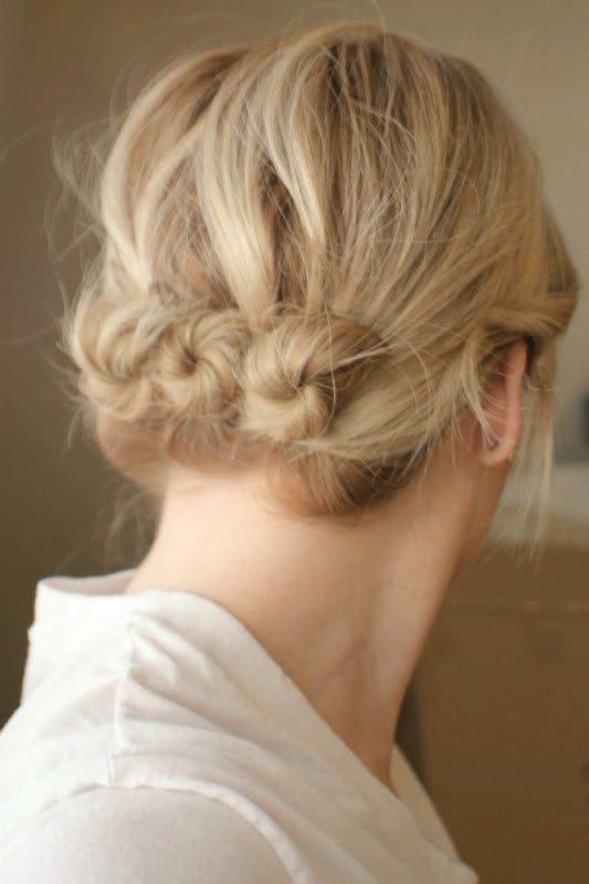 Three Twisted Buns My Style Pinterest Hair Hair Styles And