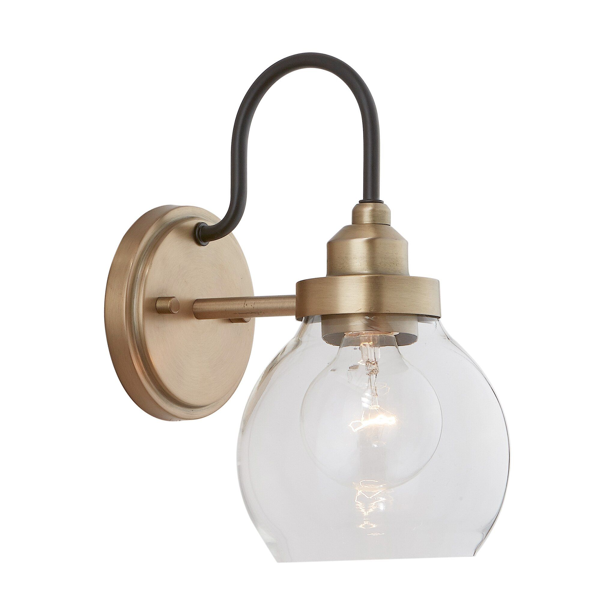 Llewellyn 1 Light Armed Sconce In 2021 Wall Lights Sconces Bathroom Sconces