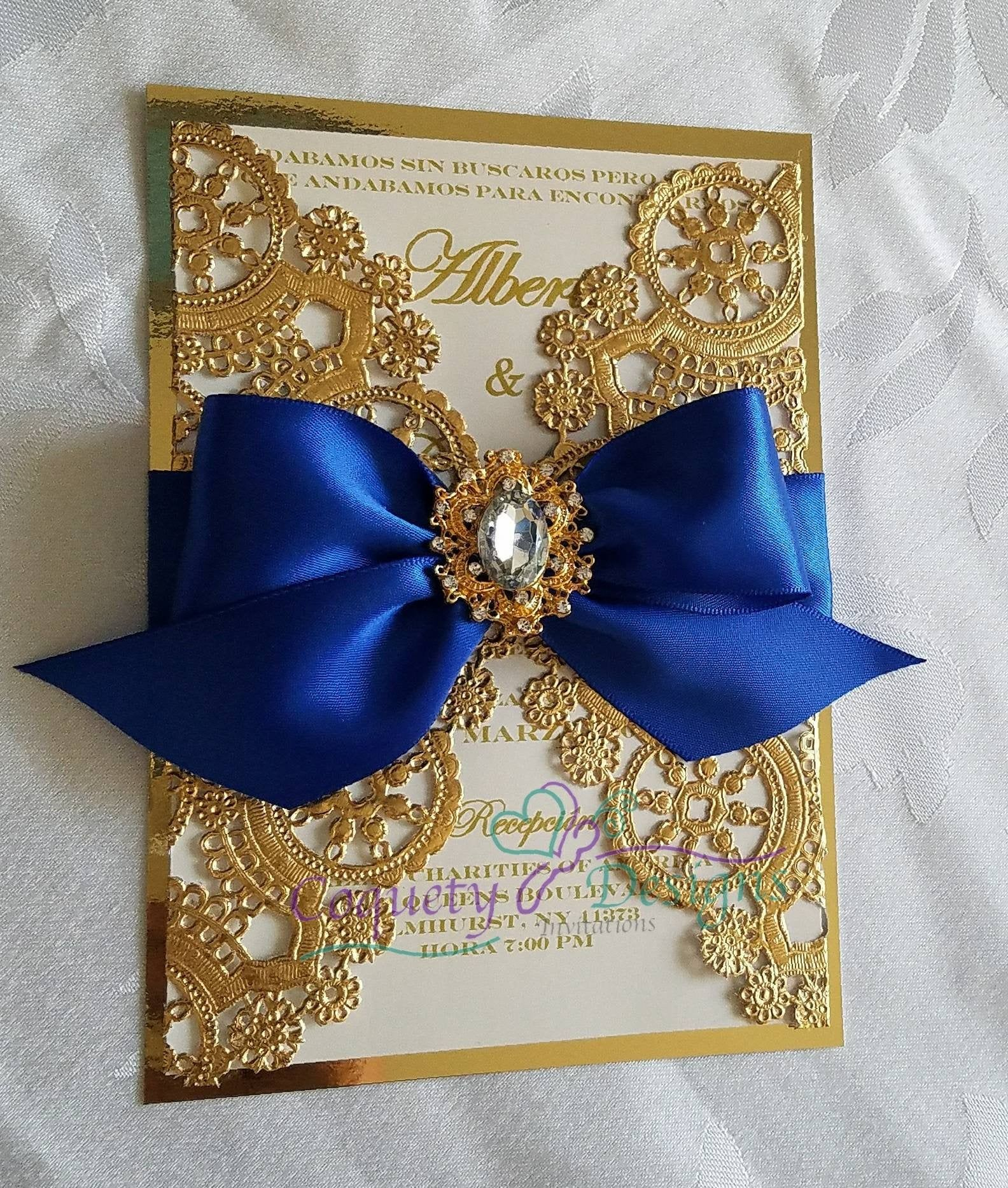 Hermosa invitación real / bodas / Quinceañeras / dulce16 / Birthfays #quinceaneraparty