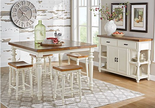 Hillside Cottage White 5 Pc Counter Height Dining Room 588 00