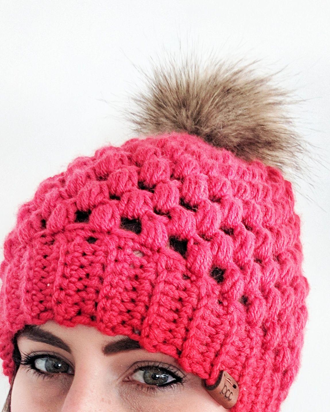e078cbf5088 crochet pom pom hat- The Puff  amp  Pom beanie from Bella s Custom Crochets-