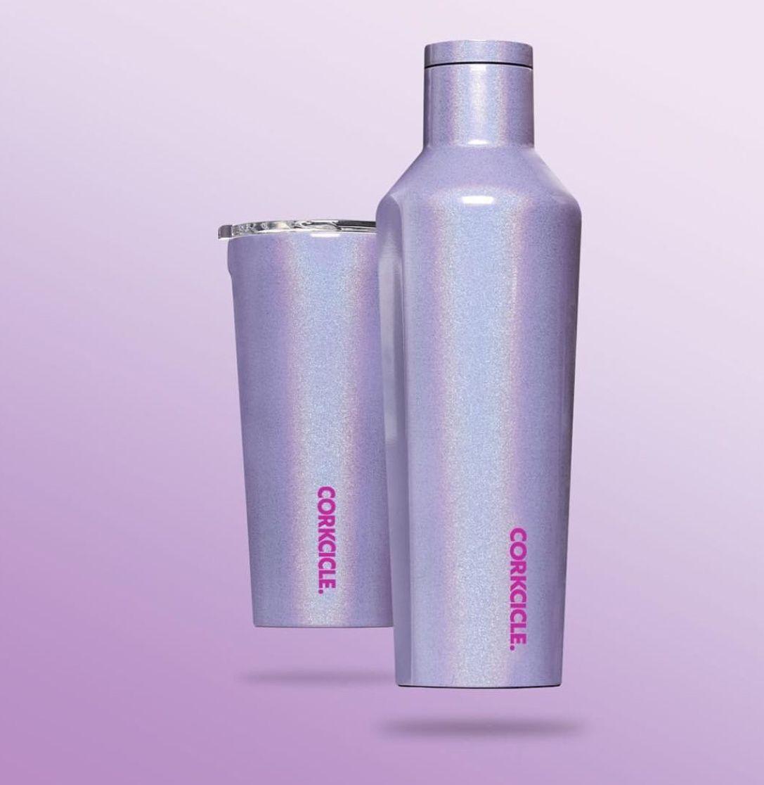 Purple Sparkle Pixie Dust Corkcicle Purple Sparkle Bottle