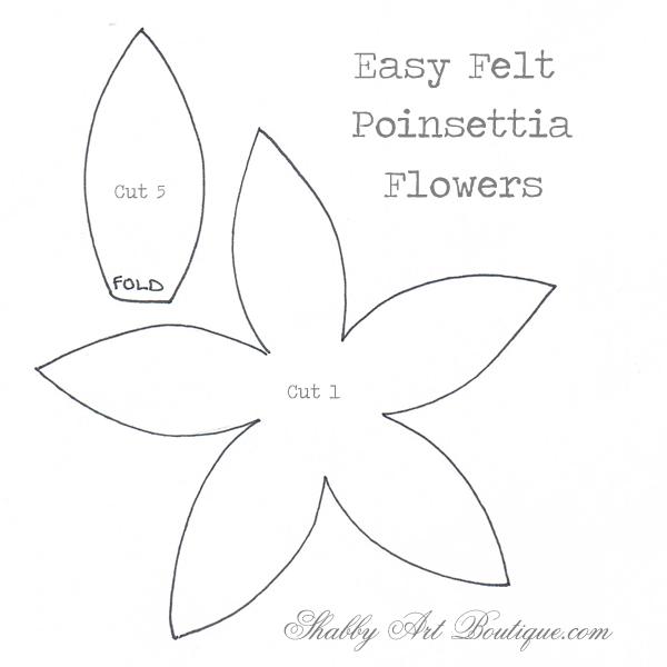 Simply Christmas–easy felt Poinsettias - Shabby Art ...