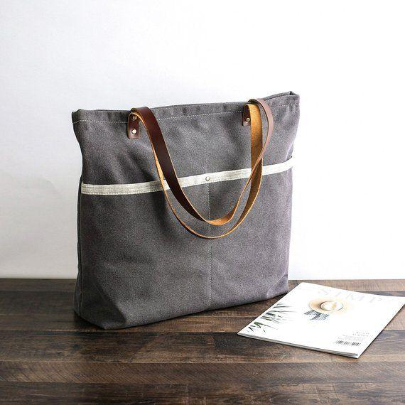6504b64a368 Handmade Women Tote Bag, Canvas Tote Bag, Shoulder Bag, Laptop ...