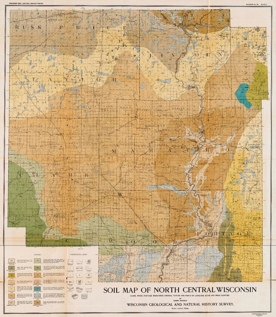 Soil map of north central Wisconsin Wisconsin has